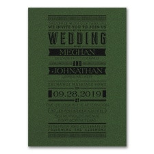Typography Banner - Invitation - Green Shimmer