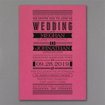 Typography Banner - Invitation - Fuchsia