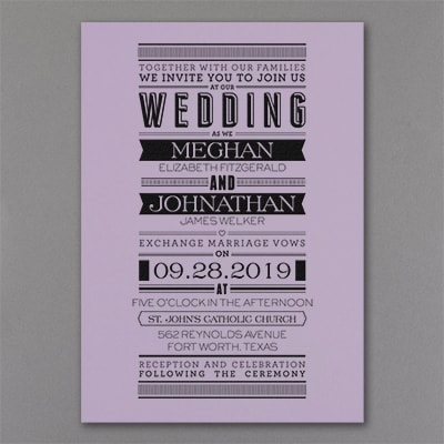 Typography Banner - Invitation - Lavender