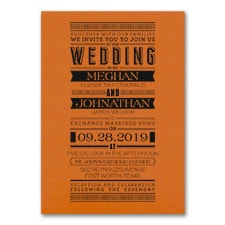 Typography Banner - Invitation - Orange Shimmer