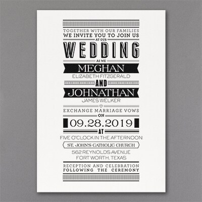 Typography Banner - Invitation - White