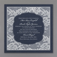 floral invitation: Lace Flowers