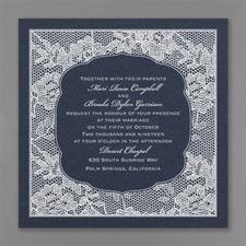 floral invitation: Lace Flowers