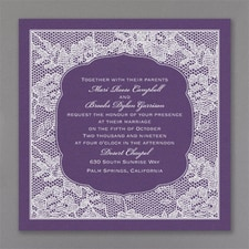 Vintage wedding invitation: Lace Flowers