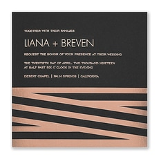 New Stripes Invitation  -