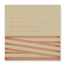 ribbon invitation: New Stripes