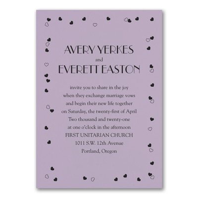 Affectionate Romance Invitation - Lavender