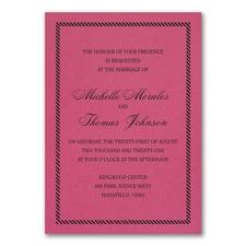 Border and Stripes Invitation - Fuchsia