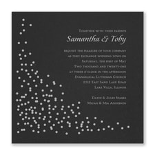 Celebration Dots Invitation - Black