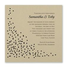 Celebration Dots Invitation - Gold Shimmer
