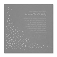 Celebration Dots Invitation - Slate