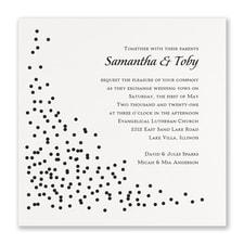 Celebration Dots Invitation - White