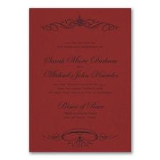 Wedding Invitation: Beautiful Crest Invitation