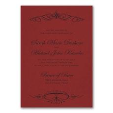 Beautiful Crest Invitation - Wedding Invitation