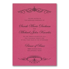 Beautiful Crest Invitation - Fuchsia