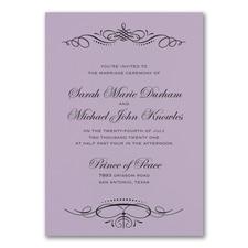 Beautiful Crest Invitation - Lavender