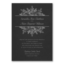 Enchanting Roses Invitation - Black