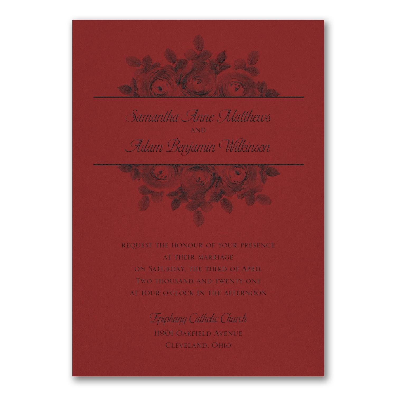 Enchanting Roses Invitation - Claret > Wedding Invitations   Carlson ...