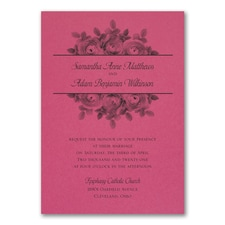 Enchanting Roses Invitation - Fuchsia