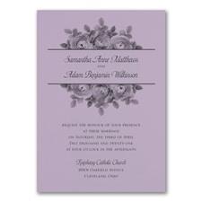 Enchanting Roses Invitation - Lavender