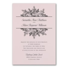 Enchanting Roses Invitation - Pink