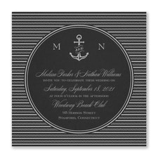 Nautical Love Invitation - Black