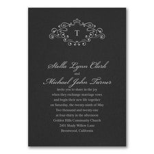 Wedding Bliss Invitation - Black