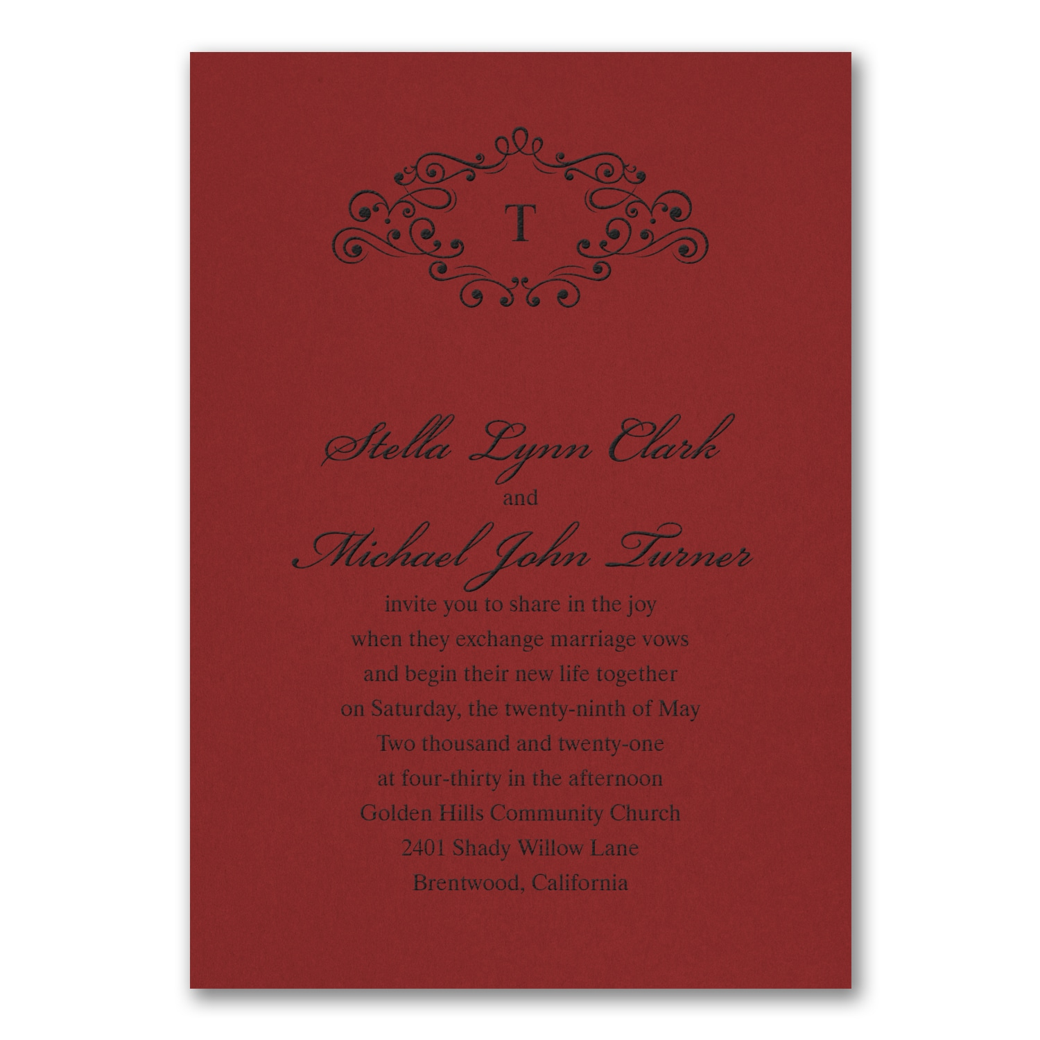 Contemporary Wedding Invitations Memphis Tn Frieze - Invitations and ...