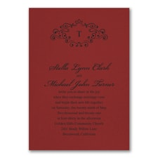 Wedding Bliss Invitation - Claret