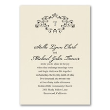 Wedding Bliss Invitation - Ecru