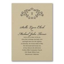 Wedding Bliss Invitation - Gold Shimmer