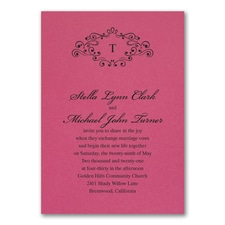 Wedding Bliss Invitation - Fuchsia