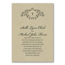 Wedding Bliss Invitation - Kraft
