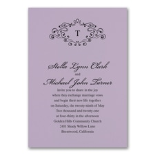 Wedding Bliss Invitation - Lavender