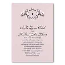 Wedding Bliss Invitation - Pink