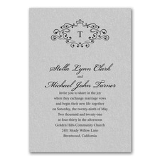 Wedding Bliss Invitation - Silver Shimmer