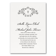 Wedding Bliss Invitation - White