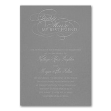 Married Today Invitation - Slate