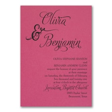 Love and Romance Invitation - Fuchsia