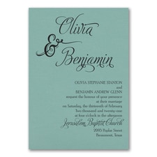 Love and Romance Invitation - Lagoon Shimmer