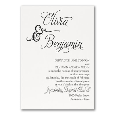 Love and Romance Invitation - White