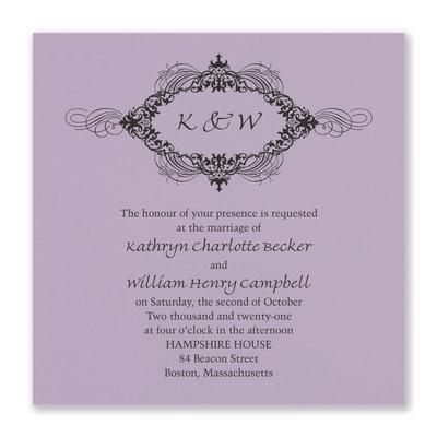 Opulent Flourish Invitation - Lavender