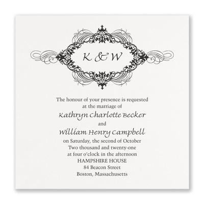 Opulent Flourish Invitation - White