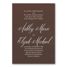 Regal Type Invitation - Mocha Shimmer