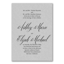 Regal Type Invitation - Silver Shimmer