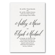 Regal Type Invitation - White