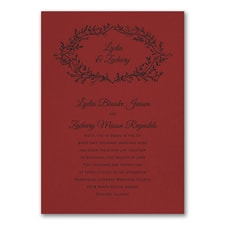 Wedding Invitation: Rustic Greenery Invitation