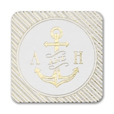 Nautical Love Coaster