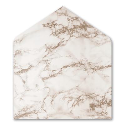 Marble Opulence Jumbo Liner - White