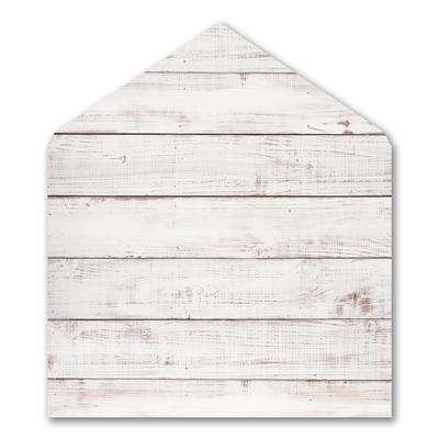 Painted Wood Jumbo Liner - White